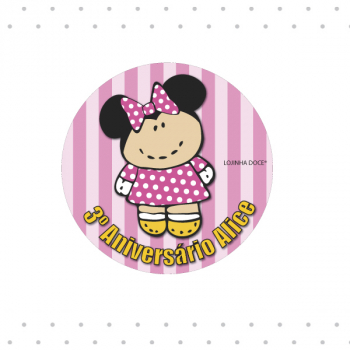 Crachá (min. 20un) modelo minnie