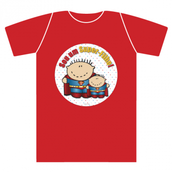 T-shirt kids extra SUPER-PAI menino